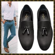 Louis Vuitton Other Check Patterns Plain Toe Loafers Blended Fabrics