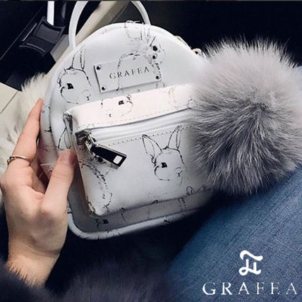Casual Style Other Animal Patterns Leather Backpacks