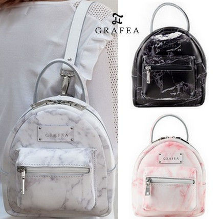 Casual Style 2WAY Leather Backpacks