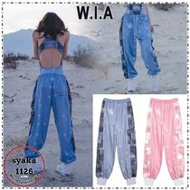 W.I.A Printed Pants Unisex Sweat Street Style Patterned Pants