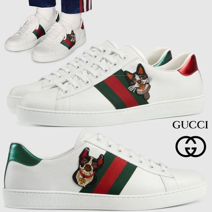 edb0d7302c3 GUCCI Ace 2018 Cruise Other Animal Patterns Leather Sneakers (501907 ...