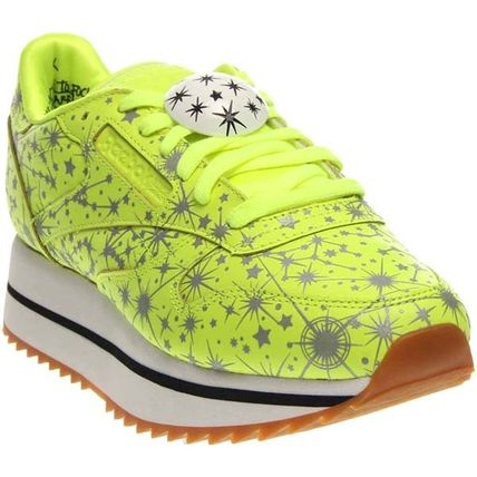 Dots Rubber Sole Lace-up Casual Style Faux Fur