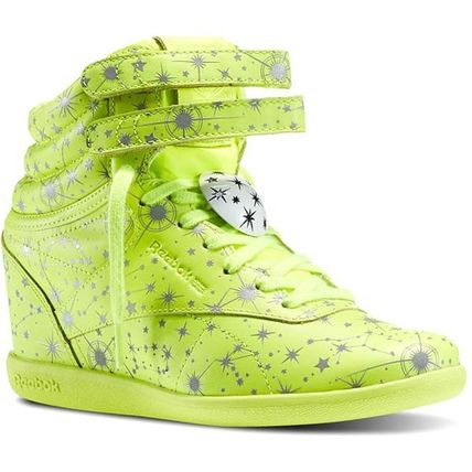 Dots Lace-up Casual Style Faux Fur Platform & Wedge Sneakers