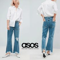 ASOS Denim Plain Long Wide & Flared Jeans