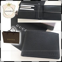 GUCCI Plain Folding Wallets