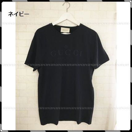 GUCCI More T-Shirts Street Style U-Neck Cotton Short Sleeves T-Shirts 7