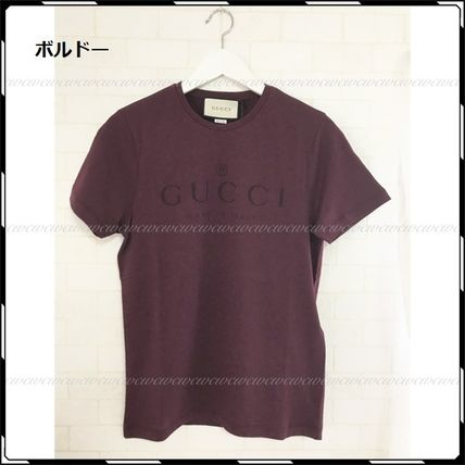 GUCCI More T-Shirts Street Style U-Neck Cotton Short Sleeves T-Shirts 10