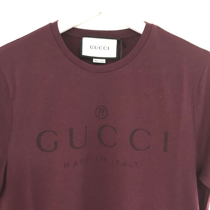 GUCCI More T-Shirts Street Style U-Neck Cotton Short Sleeves T-Shirts 14