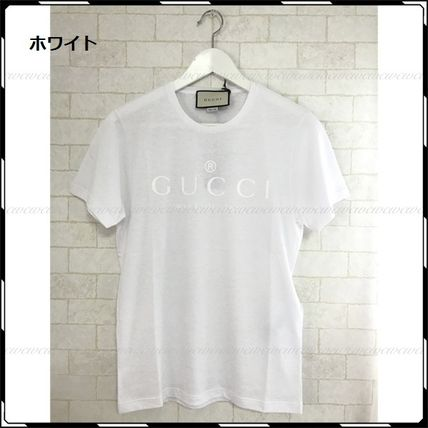 GUCCI More T-Shirts Street Style U-Neck Cotton Short Sleeves T-Shirts 8