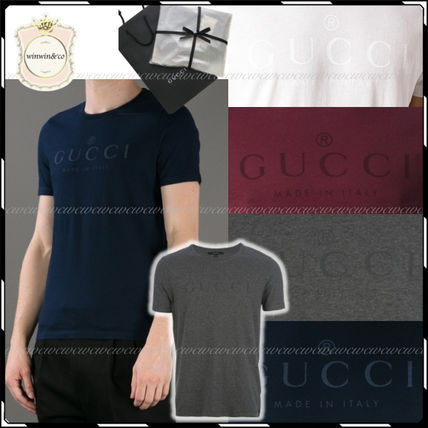 GUCCI More T-Shirts Street Style U-Neck Cotton Short Sleeves T-Shirts 6
