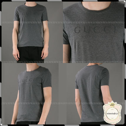 GUCCI More T-Shirts Street Style U-Neck Cotton Short Sleeves T-Shirts 16