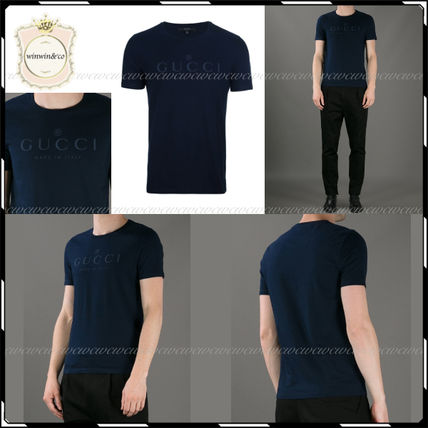 GUCCI More T-Shirts Street Style U-Neck Cotton Short Sleeves T-Shirts 19