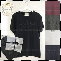 GUCCI Street Style U-Neck Cotton Short Sleeves T-Shirts