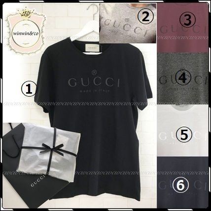 GUCCI More T-Shirts Street Style U-Neck Cotton Short Sleeves T-Shirts 3