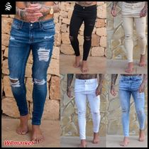 SINNERS ATTIRE Street Style Cotton Jeans & Denim
