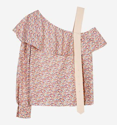 Flower Patterns Casual Style Bandeau & Off the Shoulder