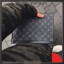 Louis Vuitton MONOGRAM Monogram Canvas Blended Fabrics Bag in Bag 2WAY Clutches