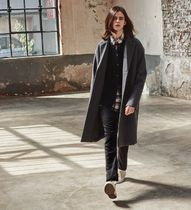 ACOVER Unisex Plain Long Chester Coats