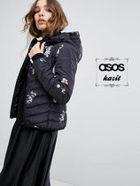 ASOS Flower Patterns Casual Style Down Jackets