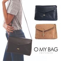 O MY BAG Casual Style Plain Leather Shoulder Bags