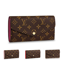 Louis Vuitton PORTEFEUILLE SARAH 18SS SARAH WALLET Monoglam Leather Long Wallets