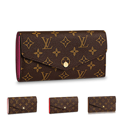 9fdf6fe759a9 ... Louis Vuitton Long Wallets 18SS SARAH WALLET Monoglam Leather Long  Wallets ...