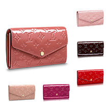 Louis Vuitton PORTEFEUILLE SARAH 18SS SARAH WALLET embossed Monogram Vernis leather