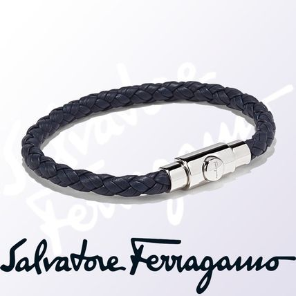 Salvatore Ferragamo Bracelets Plain Leather Handmade
