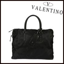 VALENTINO Camouflage Studded Street Style A4 2WAY Leather
