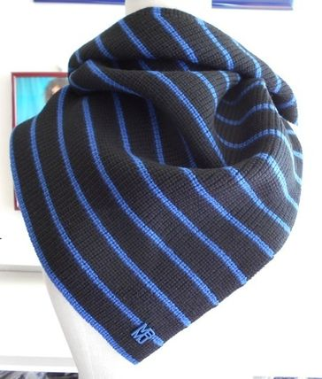 Stripes Casual Style Wool Heavy Scarves & Shawls