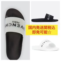 GIVENCHY Street Style Bi-color Plain Shower Shoes Shower Sandals