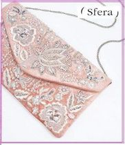 Sfera Flower Patterns 2WAY Chain Elegant Style Clutches