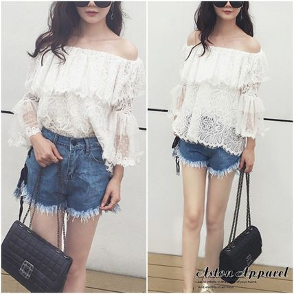 Casual Style Lace Bandeau & Off the Shoulder