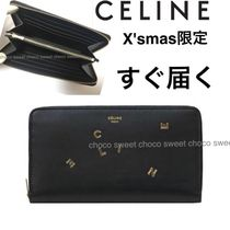 CELINE Zipped Calfskin Special Edition Long Wallets