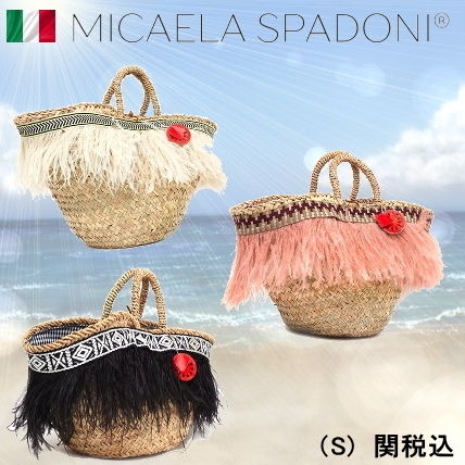 Casual Style Blended Fabrics Handmade Straw Bags