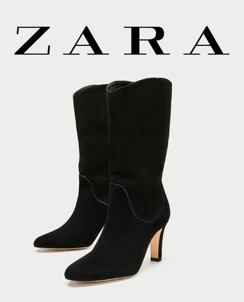 Casual Style Suede Plain Ankle & Booties Boots