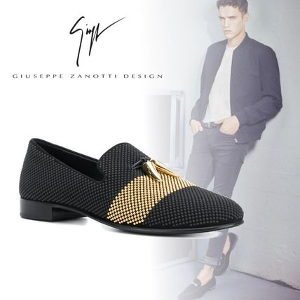 Plain Toe Loafers Studded Plain Leather Loafers & Slip-ons