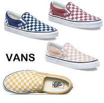 VANS SLIP ON Other Check Patterns Unisex Street Style Loafers & Slip-ons