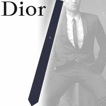 DIOR HOMME Silk Street Style Plain Other Animal Patterns Ties