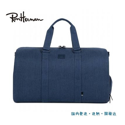 Unisex Plain Boston Bags