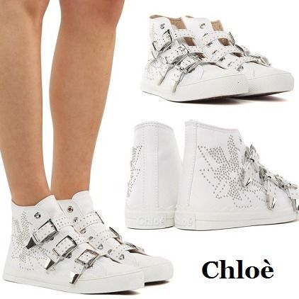 Round Toe Rubber Sole Casual Style Studded Leather