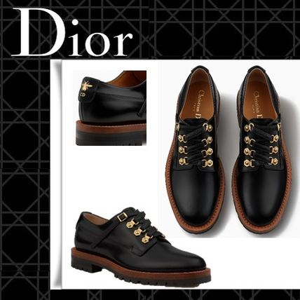 Rubber Sole Casual Style Blended Fabrics Studded Plain