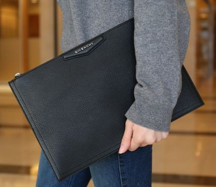 Plain Leather Office Style Clutches