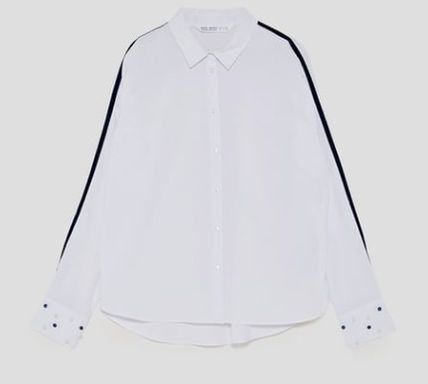 Casual Style Cotton Shirts & Blouses