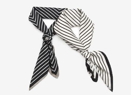 Stripes Casual Style Lightweight Scarves & Shawls