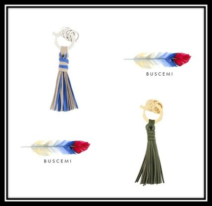 Camouflage Leather Fringes Keychains & Bag Charms