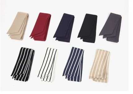 Stripes Casual Style Plain Lightweight Scarves & Shawls