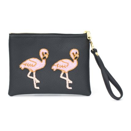 Casual Style Unisex Faux Fur Other Animal Patterns Clutches