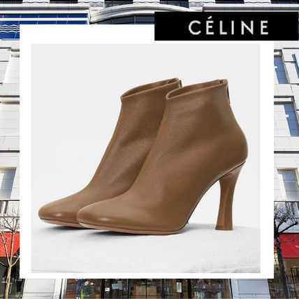 Square Toe Plain Ankle & Booties Boots