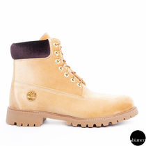 Off-White Plain Toe Mountain Boots Unisex Suede Street Style